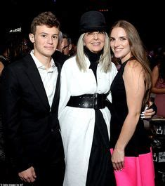 Diane Keaton with her son Duke and daughter Dexter