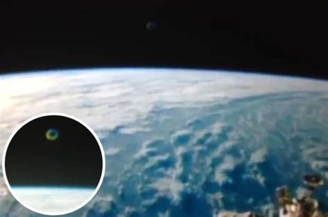 Stunning footage of 'UFO orb spotted at space station