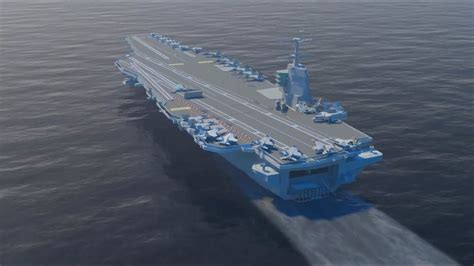 Launching the new carrier Gerald Ford CVN 78 - YouTube